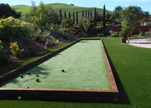 artificial grass bocce court