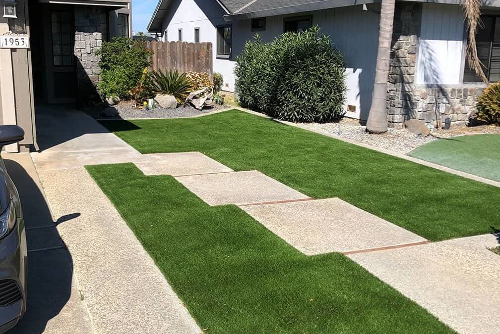 Softening Hardscapes With Lush, Evergreen Synthetic Grass in St. Louis